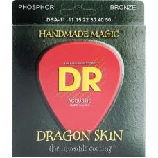 DR DSA-11 Dragon Skin (11-50) - струны для акустической гитары, 2 комплекта