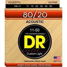 DR HA-11 HI-BEAM 80/20 Струны для акустических гитар