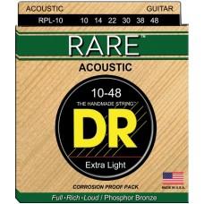 DR RPL-10 RARE Струны для акустических гитар
