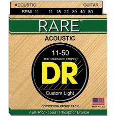 DR RPМL-11 RARE Струны для акустических гитар