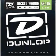 Dunlop DBN55115 Комплект струн для бас-гитары, никель, 55-115