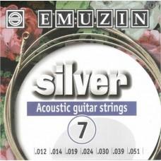EMUZIN SILVER 7А222 струны для семиструнной гитары