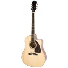EPIPHONE AJ-220SCE Solid Top Ac/Electric Natural - электроакустическая гитара