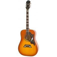 EPIPHONE DOVE PRO VINTAGE BROWN SUNBURST - электроакустическая гитара