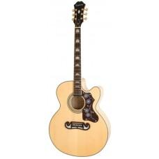 EPIPHONE EJ-200CE NATURAL GLD - электроакустическая гитара