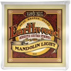 Ernie Ball 2067 струны для мандолины Earthwood 80/20 Bronze Light (9-13-22w-34)