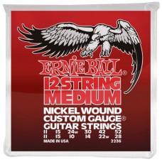 Ernie Ball 2236 струны для 12струнной электрогитары Nickel Medium 12