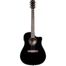 FENDER CD-60CE DREADNOUGHT BLACK W/FISHMAN® MINIQ PREAMP - электроакустическая гитара