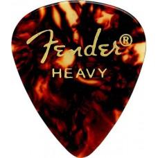 FENDER CLASSIC SHELL (12PK) HVY медиаторы жесткие, классические (упакованы по 12 шт.)