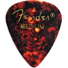 FENDER CLASSIC SHELL (12PK) MED медиаторы средней толщины, классические (упакованы по 12 шт.)