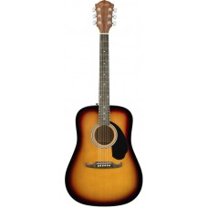 FENDER FA-125 SB Dreadnought w/bag - акустическая гитара с чехлом