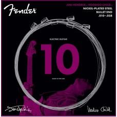 FENDER HENDRIX VOODOO CHILD BULLET NICKEL PLATED STEEL 10-38 Струны для электрогитары