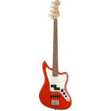 FENDER PLAYER JAGUAR BASS PF SRD Бас-гитара, цвет красный