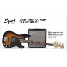 FENDER SQUIER PK PJ BASS R15v3 BSB 230V EU комплект: бас-гитара PJ Bass (санберст) и комбо 15Вт