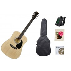 FENDER SQUIER SA-105 NATURAL PACK набор: акустическая гитара с аксессуарами