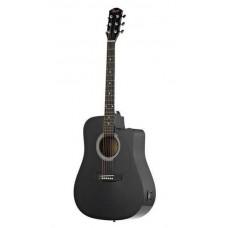 FENDER SQUIER SA-105CE DREADNOUGHT BLACK W/FISHMAN PREAMP - гитара электроакустическая