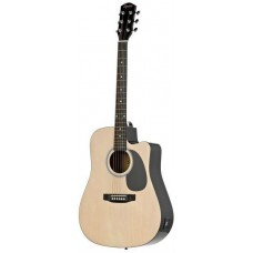 FENDER SQUIER SA-105CE DREADNOUGHT NAT W/FISHMAN PREAMP - гитара электроакустическая