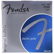 FENDER STRINGS NEW ORIGINAL BULLET 3150L PURE NKL BULLET END 9-42 струны для электрогитары