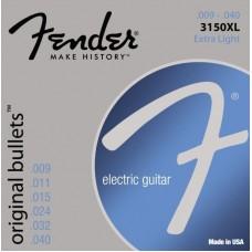 FENDER STRINGS NEW ORIGINAL BULLET 3150XL PURE NKL BLT END 9-40 струны для электрогитары
