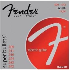 FENDER STRINGS NEW SUPER BULLET 3250L NPS BULLET END 9-42 струны для электрогитары