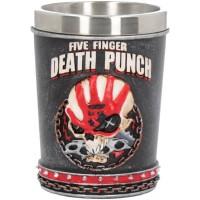 Five Finger Death Punch Shot Glass 7cm 5.5X5.5X7cm Сувенирная рюмка Five Finger, лицензионная сувени
