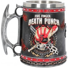 Five Finger Death Punch Tankard 15cm 15x11x14.5cm Сувенирная кружка Five Finger, лицензионная сувени
