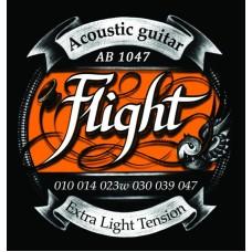 FLIGHT AB1047 струны для акустической гитары, 10-47