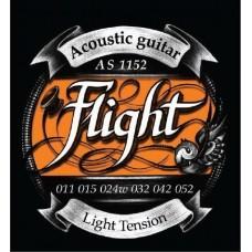 FLIGHT AS1152 - струны для акустической гитары, 11-52