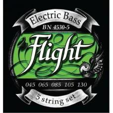FLIGHT BN4530-5 - струны для 5ти струнной бас-гитары, 45-130