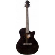 FLIGHT GA-150 BK - акустическая гитара, Grand Auditorium с вырезом