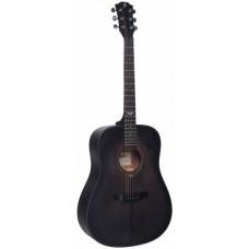 FLIGHT D-435 BK - акустическая гитара, ель/красное днерево, цвет черный