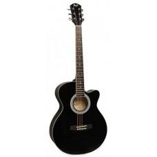 FLIGHT F 130 BK - фолк гитара с металлическими струнами