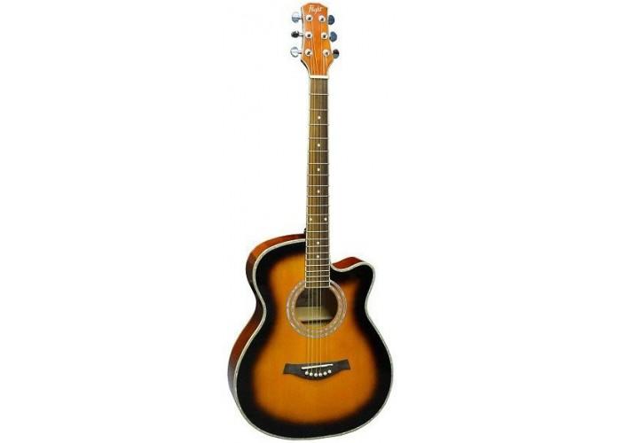 FLIGHT F-230C SB - фолк гитара с металлическими струнами
