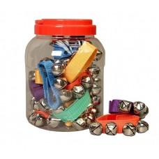 FLIGHT FABS4-20 набор браслетов с 4 бубенцами тубе 20 шт