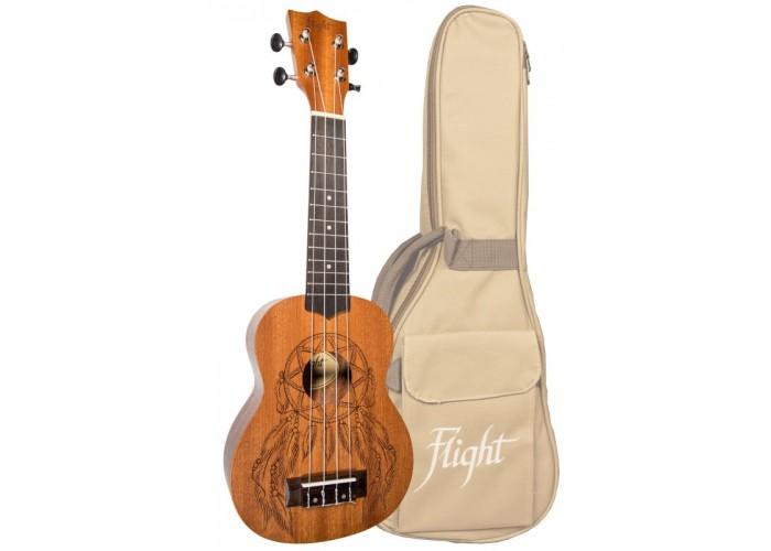 FLIGHT NUS 350 DC - укулеле, сопрано, чехол в комплекте