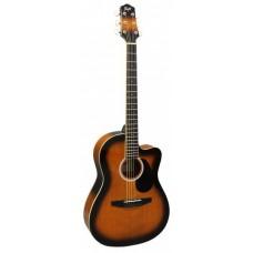 FLIGHT SF24C BS - фолк гитара с металлическими струнами
