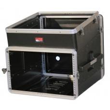 GATOR GRC-10X6 - рэковый кейс,пластик,черный,10U верх, 6U низ, компактный, легкий доступ к кабелям