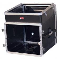 GATOR GRC-10X8 - рэковый кейс,пластик,черный,10U верх, 8U низ, компактный, легкий доступ к кабелям