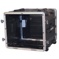 GATOR GRR-8L - рэковый кейс на 8U, стальные рельсы, глубина 19