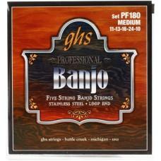 GHS PF145 (10-12-13-22-10) - струны для 5 струнного банджо