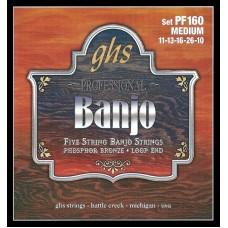 GHS PF160 (11-13-16-26-10) - струны для 5 струнного банджо