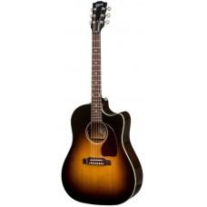 GIBSON 2018 J-45 Cutaway Vintage Sunburst - электроакустическая гитара
