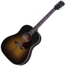 GIBSON J-45 STANDARD VINTAGE SUNBURST - электроакустическая гитара с кейсом