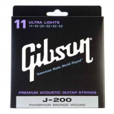 GIBSON SAG-J200 PREMIUM PHOS BRONZE .013-.056 струны для акустической гитары