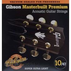 GIBSON SAG-MB10 MASTERBUILT PHOSPHOR BR .010-.047 струны для акустической гитары