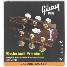 GIBSON SAG-MB12 MASTERBUILT PHOSPHOR BR .012-.052 струны для акустической гитары