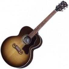 GIBSON SJ-100 WALNUT Honeyburst - электроакустическая гитара с кейсом