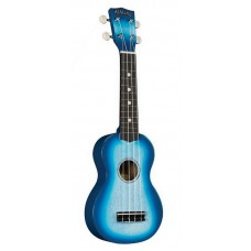 HAMANO U-35BU Blue Sparkle укулеле сопрано, клен, гриф махогани, чехол, синий берст с блестками