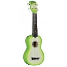 HAMANO U-35GN Green Sparkle укулеле сопрано, клен, гриф махогани, чехол, зеленый берст с блестками