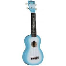 HAMANO U-35LB Light Blue укулеле сопрано, клен, гриф махогани, чехол, голубой берст с блестками